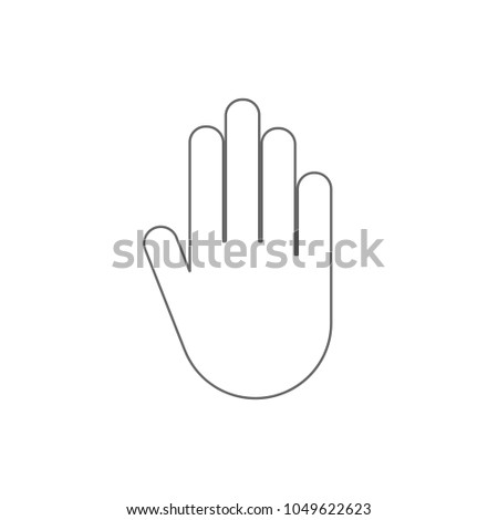 Stop Hand Gesture Authorized Access Sign Stock Vector 2018