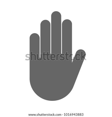 Stop Hand Gesture Symbol Vector Icon Stock Vector 1016943883