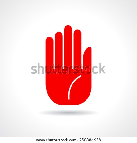 Stop hand icon - stock vector