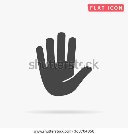 Stop hand Icon Vector.  - stock vector