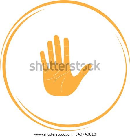 stop hand. Internet button. Vector icon. - stock vector