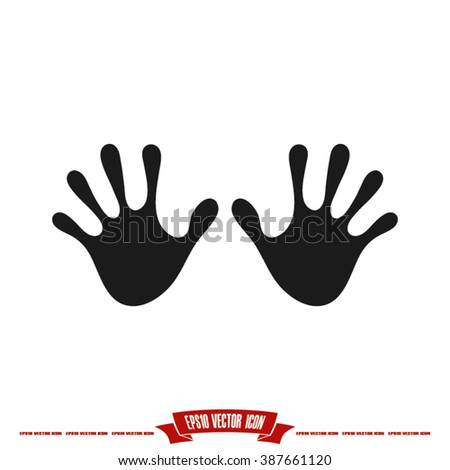 Stop hands Icon Vector