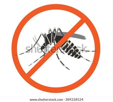 Stop mosquitos / Dengue / Zika Virus (Vector Design) - stock vector