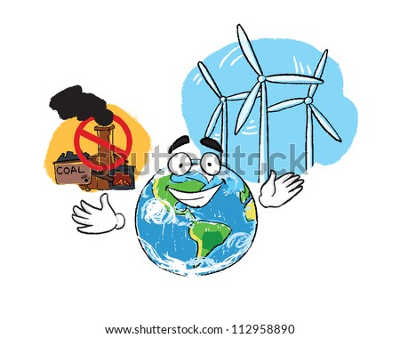 stop pollution. Earth need save - stock vector