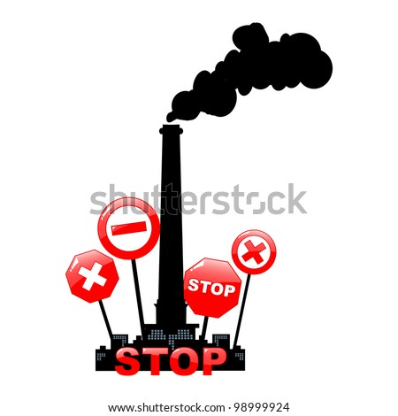 stop pollution environmental background - vector illustration - stock vector