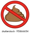 Stop Poop Sign.Vector Illustration - stock vector