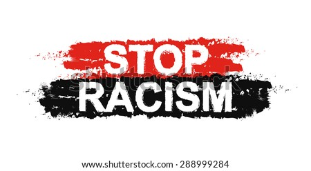 Stop racism paint ,grunge, protest, graffiti sign. Vector - stock vector