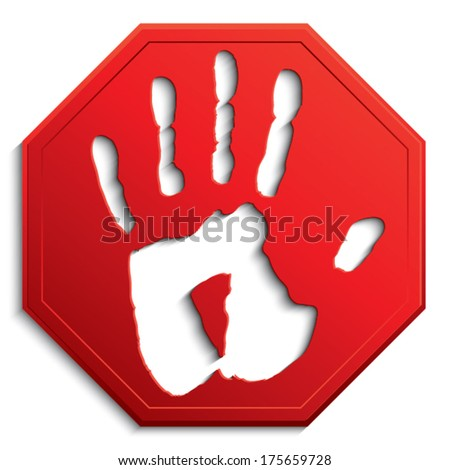 stop sign /no entry / vector illustration eps 10 - stock vector
