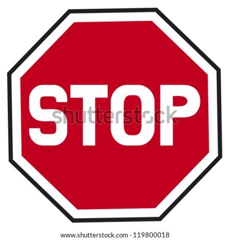 stop sign (traffic stop sign) - stock vector
