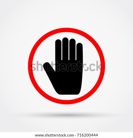 STOP sign vector illustration.