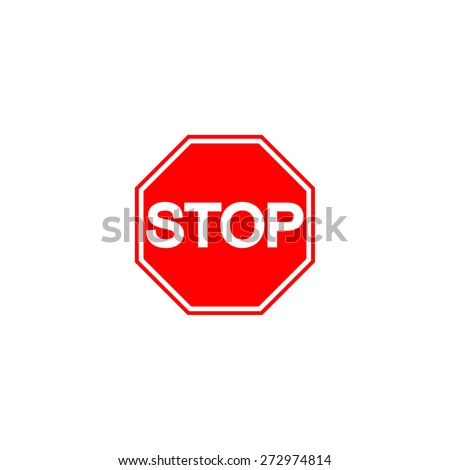 Stop sign. white background - stock vector