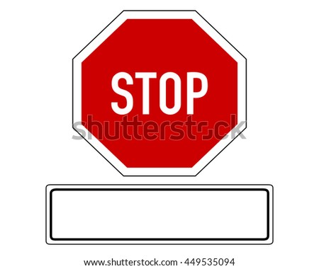 Stop sign with added sign