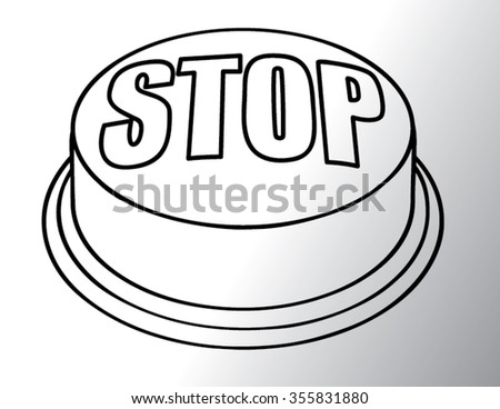 stop sing outline isolated illustration - stock vector