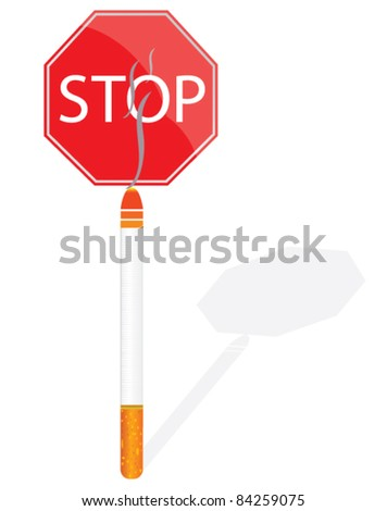 stop smoking sign vector illustration
