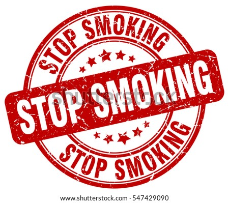 stop smoking. stamp. red round grunge vintage stop smoking sign