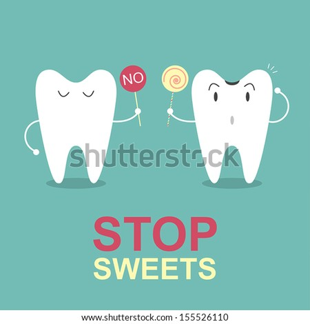 Stop sweets, Idea concept - stock vector
