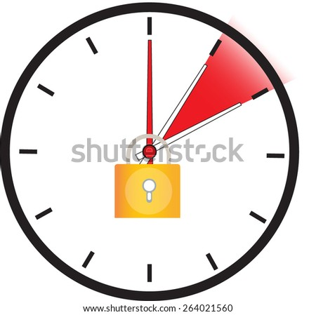 Stop time change  - stock vector
