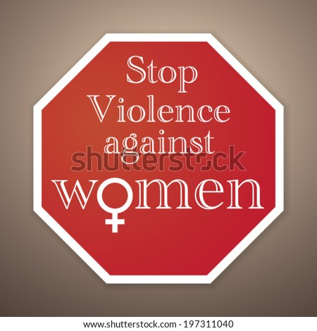 Stop violence against women - Vector Poster design