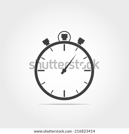 Stop watch icon on white background - stock vector