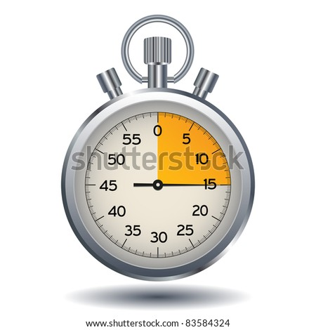 stop watch isolated on a white background - stock vector