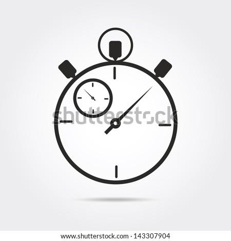 stop watch vector - stock vector