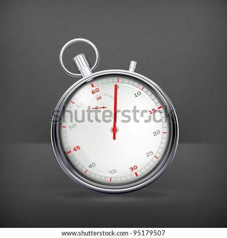 Stop-watch, vector - stock vector