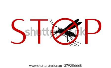 Stop zika virus. Aegypti mosquito silhouette. Aegypti mosquito. Vector aegypti mosquito silhouette isolated on white background. Stop zika virus. Isolated aegypti mosquito silhouette icon. Zika virus - stock vector
