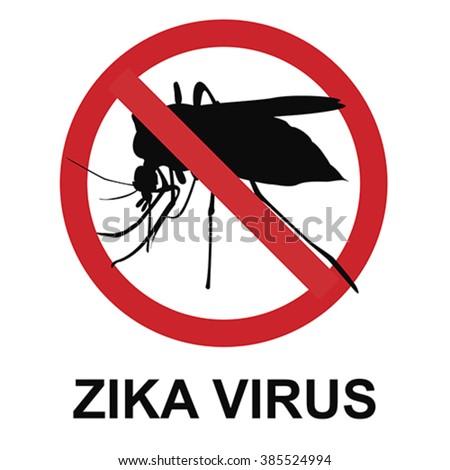 Stop zika virus, vector - stock vector