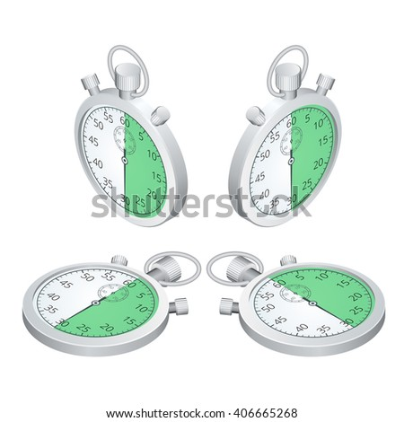 Stopwatch Icon, digital stopwatch, clock flat, Stopwatch isometric, Stopwatch vector, Stopwatch EPS10, Stopwatch icon graphic, Stopwatch icon object, Stopwatch 3d, Stopwatch illustration - stock vector