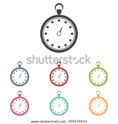 Stopwatch icon isolated on white background - stock vector