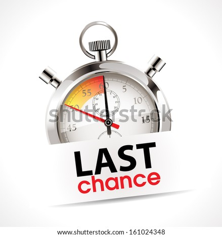 Stopwatch - Last chance - stock vector