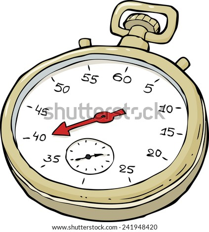 Stopwatch on a white background vector illustration - stock vector