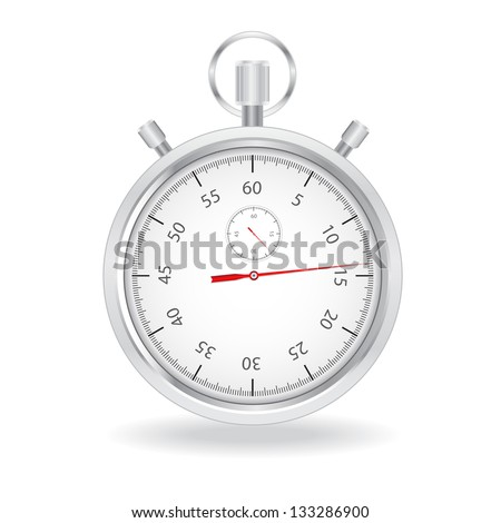 Stopwatch on white background - stock vector