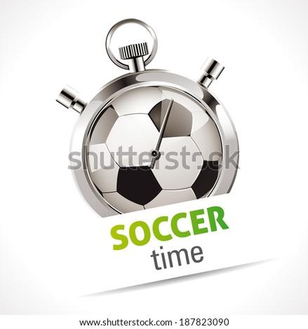 Stopwatch - Sport Soccer - stock vector