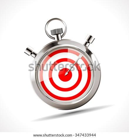 Stopwatch - target concept - stock vector