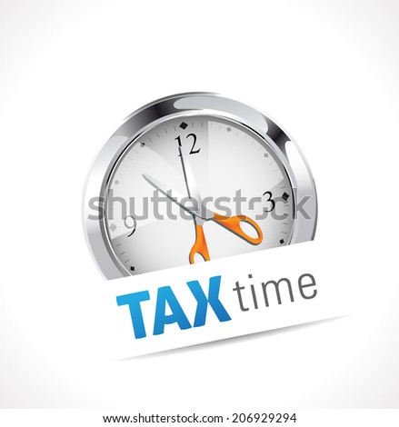 Stopwatch - Tax time - stock vector