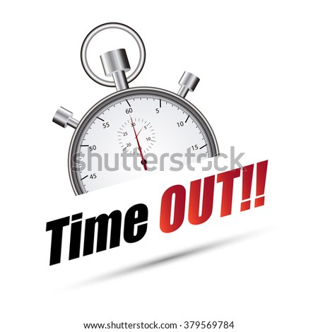 Stopwatch time out - stock vector