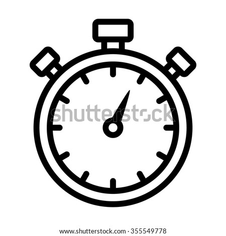Stopwatch timer line art icon for apps and websites - stock vector