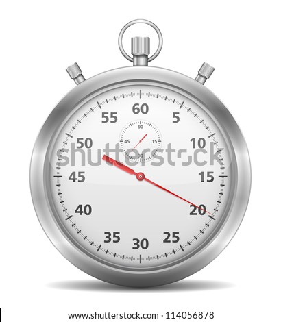 Stopwatch, vector eps10 illustration - stock vector