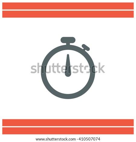 Stopwatch vector icon - stock vector