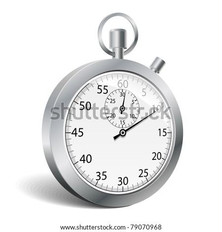 Stopwatch. Vector illustration. - stock vector