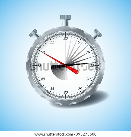 Stopwatch. Vector, isolated, design element. - stock vector