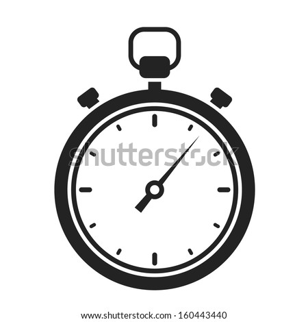 stopwatch web black icon isolated on white background. vector illustration - stock vector