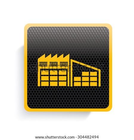 Storage icon design,yellow version,clean vector - stock vector