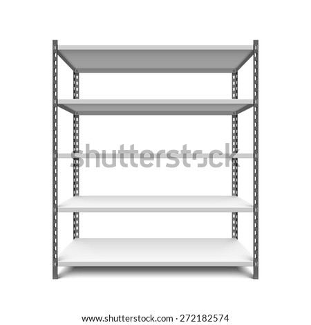 Storage shelf vector illustration