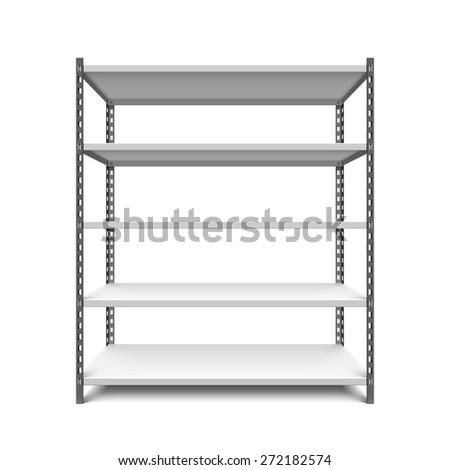 Storage shelf vector illustration - stock vector