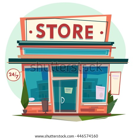 Store facade. Vector illustration.