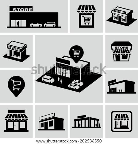 Store icon  - stock vector