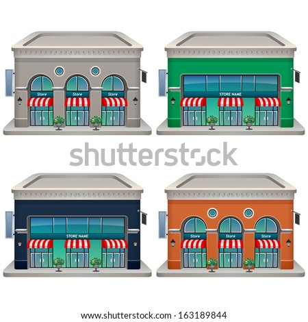 Store icon set. Vector illustration. Eps 10. - stock vector