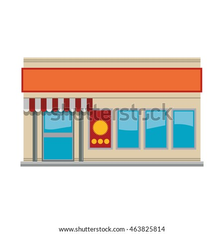 store market shop building icon. Isolated and flat illustration. Vector graphic
